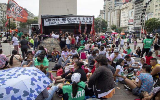 PROTESTA Y ACAMPE EN EL OBELISCO